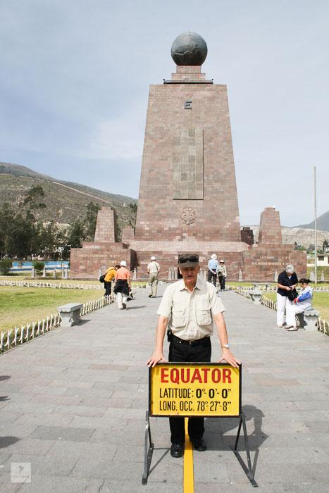 Günter Holter am Äquator