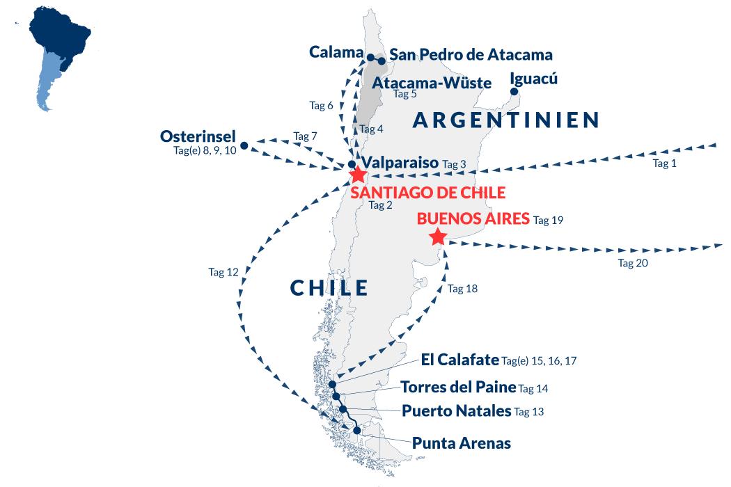 Rundreise Chile Argentinien