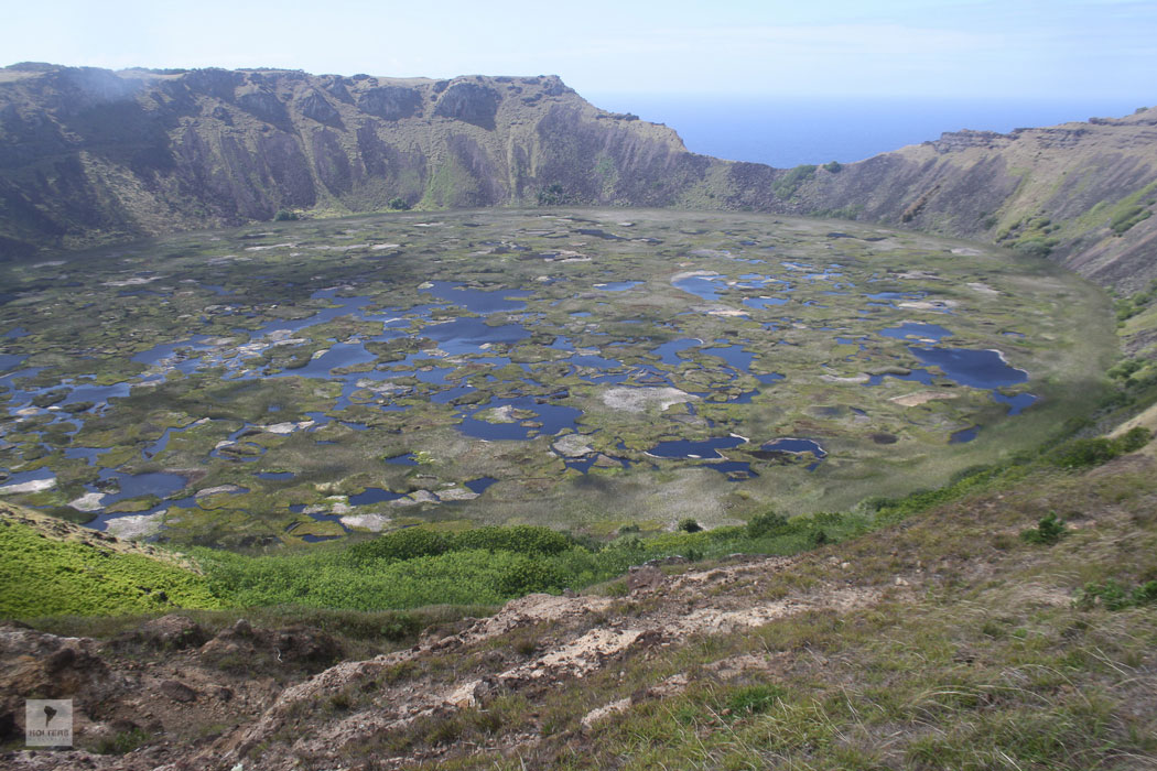 Vulkan Rano Kau mit Kratersee