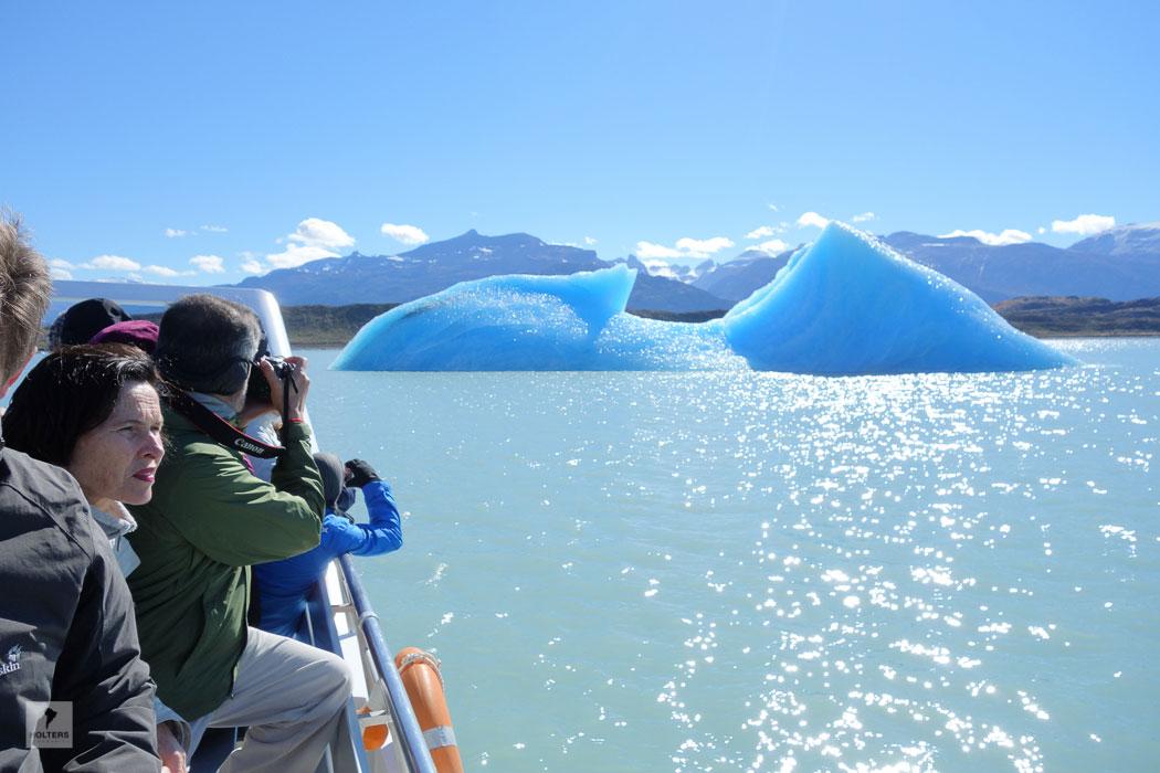 Eisberge treiben auf dem Lago Argentino