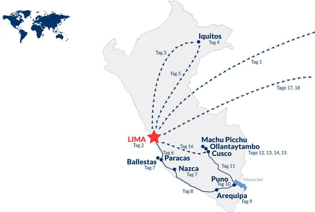 Peru Rundreise – Karte